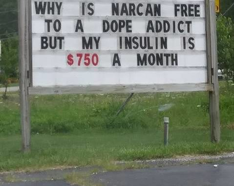 """Image result for why is methadone free and insulin so expensive"""""""