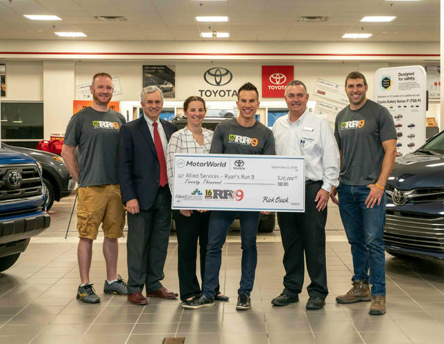 motorworld toyota donated to ryan s run allied services. Black Bedroom Furniture Sets. Home Design Ideas