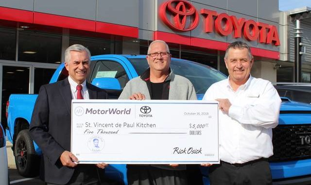 Motorworld Toyota Donates To St Vincent De Paul Soup Kitchen