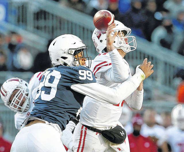 3af4f5513e1c9 Pass rush steps up for Penn State against Badgers