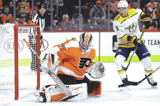 811a50f9120 Carter Hart has won both of his starts for the Flyers