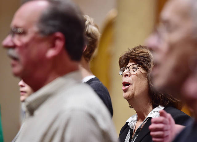 Marian Holehan, 62, of Tunkhannock, is one of the women now singing tenor with the Wyoming Valley Barbershop Harmony Chorus. Sean McKeag | For Times Leader