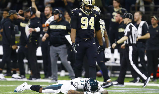 Eagles  magic finally runs out  Philly falls to Saints after ... f5d752883
