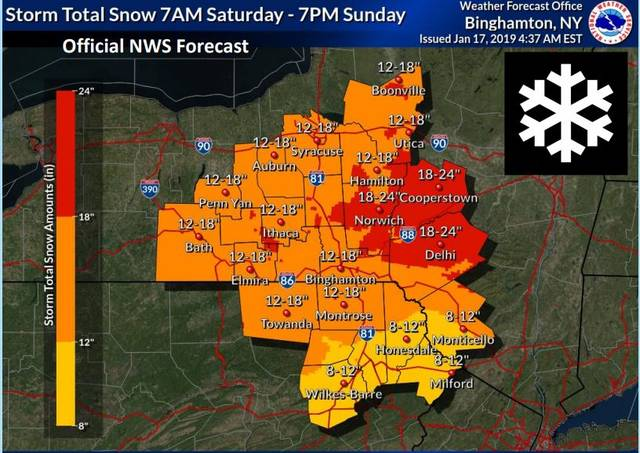Latest forecast for weekend winter storm: 6-12 inches of