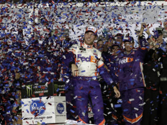 Denny Hamlin survives crash-filled finish to win Daytona 500