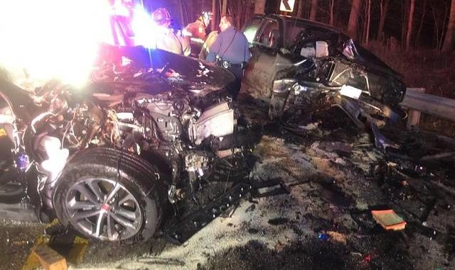 Police: NY man drunk in head-on crash that injured four in