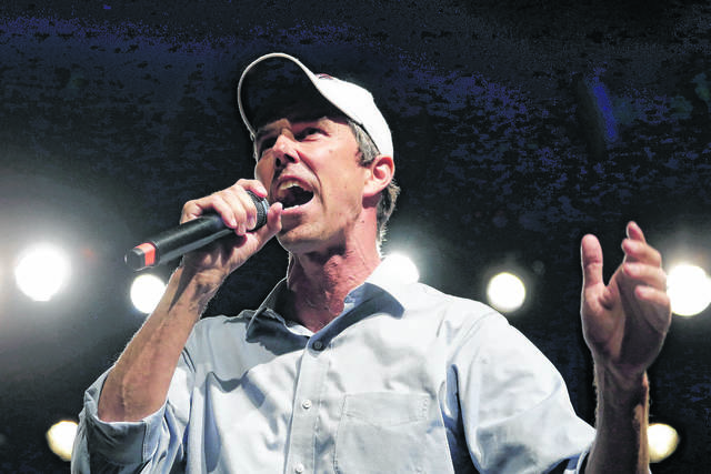 A big hand for Beto O'Rourke and his fantastic waving arms