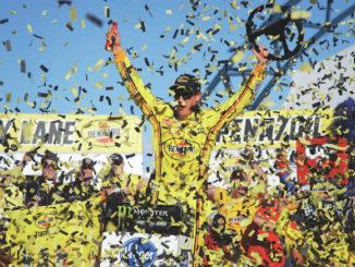 Joey Logano holds off Brad Keselowski for Vegas NASCAR win