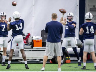 PSU's Stevens 'limited' to open spring practice; Competition at QB and RB
