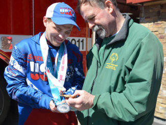 All about Aaron: Mountain Top residents turn out for Special Olympics gold medalist