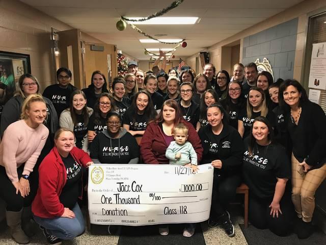 Wilkes-Barre Area Career & Technical Center nursing students make donation