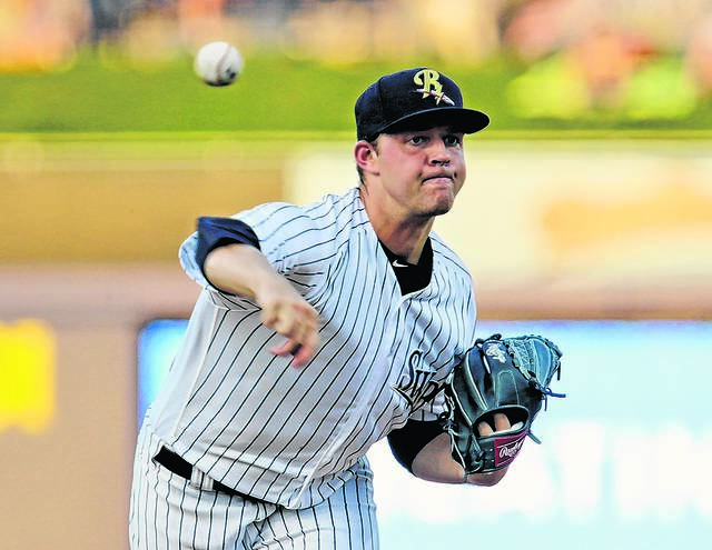 Scranton/Wilkes-Barre RailRiders starting pitcher Michael King started throwing again last Friday and will pitch his first bullpen session on March 23 since he felt elbow discomfort in February. Bill Tarutis file photo | For Times Leader