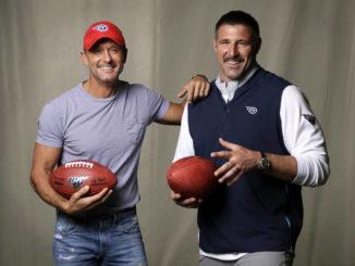 Country star, Titans coach talk draft in Nashville