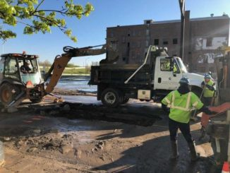 Downtown street closed due to water main break