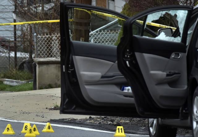 State Troopers investigate the scene of an early morning shooting Wednesday on Casey Avenue in Wilkes-Barre Township where two people were shot and taken to the hospital. Aimee Dilger|Times Leader Aimee Dilger | Times Leader