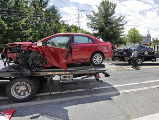 Three people injured in two-car crash in Wilkes-Barre