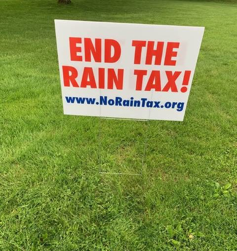 Anti-stormwater fee group starts sign campaign