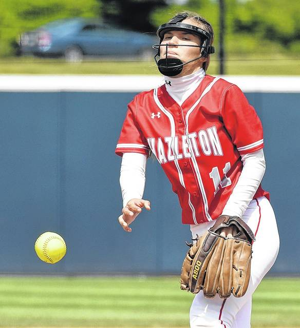 Hazleton Area pitcher Aleah Kost tossed a five-hitter in Thursday's state title game and kept Central Dauphin off the board in the final four innings to keep the Cougars alive. Tony Callaio | For Times Leader