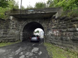 Effort underway to stop demolition of stone railroad bridge in Ashley