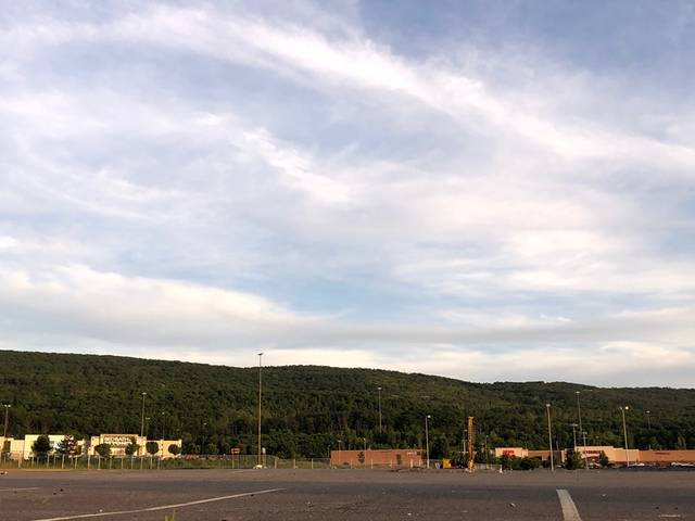 The site of the now-demolished Wilkes-Barre Township Commons is seen on Saturday evening, where developers plan to rebuild a Panera Bread restaurant. Roger DuPuis | Times Leader