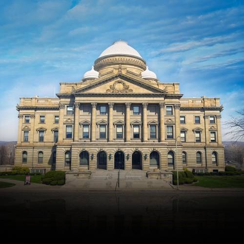 The Luzerne County Courthouse.
