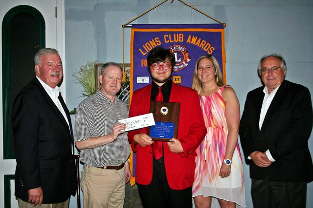 Forty Fort Lions Club awards scholarship to Gabriel Gillespie