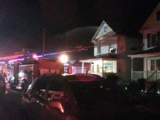 Firefighters battle blaze, heat in Hanover Township