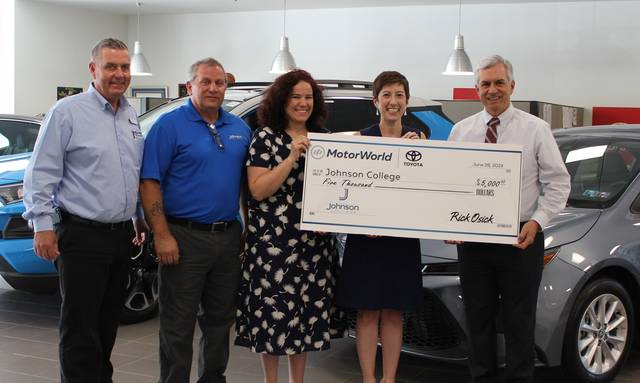 MotorWorld Toyota donates $5,000 to Johnson College