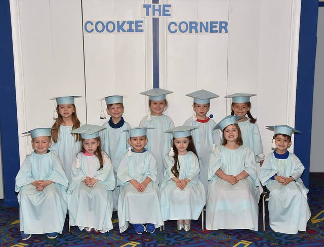 Children of the Pre-School Daycare class are, from left, first row, Jacob Norton, Madeline Hunsinger, Jake Adzema, Ariana Trevino, Erin Dunn and Vinny Ginocchetti. Second row, Ella Healey, Levi Grochal, Alana Kowalczyk, Kevin Vincavage, and Kaitlynn Soto. Absent at the time of the photo was Aidan Fielding. Submitted photo