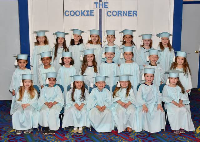 Children in the morning Pre-K group are, from left, first row, Jovie Kopka, Michael Fanti, Evelyn Milz, Chase Austin, Cecilia Hogan, Declan McHale, and Harper McHale. Second Row, Eve Tomashunas, Emma Tomashunas, Addison Keller, Teagan Delaney, Joseph Schillaci, Reagan Sienkiewicz, Brody Herron, and Kyla Stambaugh. Third row, Madison Torbik, April Kruk, Sydney Craig, Celeste Fediw, Crosby Gavin, Mira Bradshaw, Madelinn Prokopchak, and Scarlett McKinley. Submitted photo