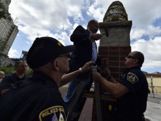 Wilkes-Barre city council demands removal of KKK brick from Public Square
