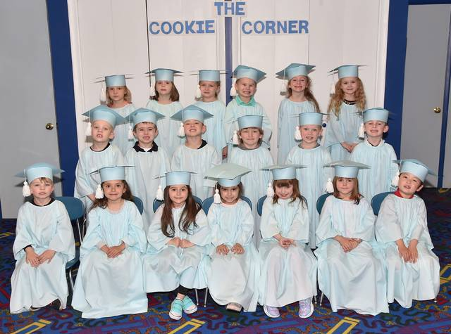 Children in the afternoon Pre-K group are, from left, first row, Tucker Musinski, Nova Pocceschi, Arabella Heiser, Eva Taroli, Alexus Rynkiewicz, Allison Jaworski, and David Hiller. Second row, Jackson Ganoe, Andrew Skursky, Bentley Lefkoski, Abel McGarrity, Robert Bartoli, and Parker Smith. Third row, Lily Uzups, Mila Banta, Payson Galvin, Jaxon Farrell, Isla Valenti, and Adriana Mitchell. Submitted photo