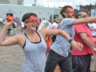 Jilted bride takes out frustration at Pittston Tomato Fights