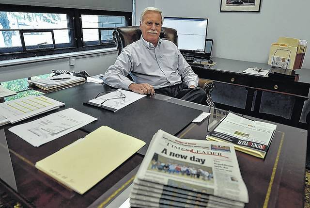 Times Leader Media Group Publisher Mike Murray is seen in his office at the paper's East Market Street headquarters. 'The significance of this event is widespread and cannot be downplayed,' Murray said of the company's recent sale to Avant Publications. 'The fact that all employees were asked to stay on with the company sends the clear message that our new ownership respects what we do and how we do it.' Aimee Dilger | Times Leader