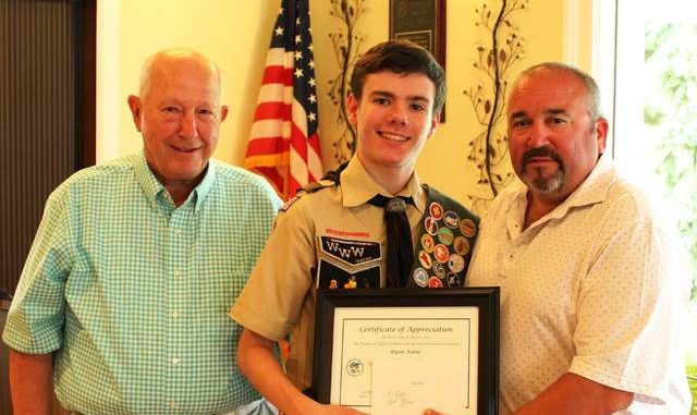 Ryan Kane, of Hanover Twp , preparing for Eagle Scout Board Review
