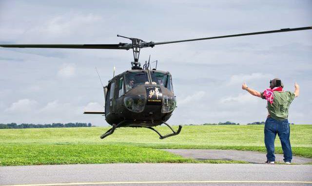 Restored Vietnam 'Huey' helicopter visiting Hazleton Airport