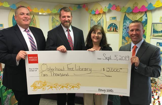 Osterhout Free Library receives grant from Wells Fargo Foundation