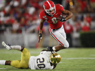Georgia escapes, survives late Notre Dame rally for 23-17 victory in top-10 showdown
