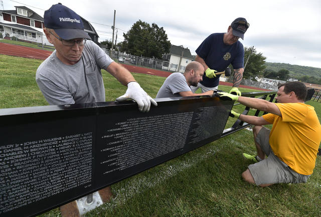 Volunteers assemble The Wall That Heals | Times Leader