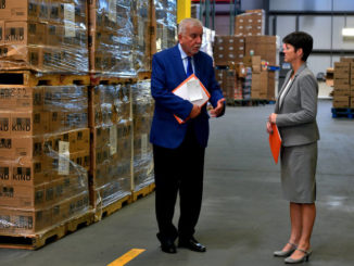 Secretary of Human Services tours local food bank to promote food assistance programs