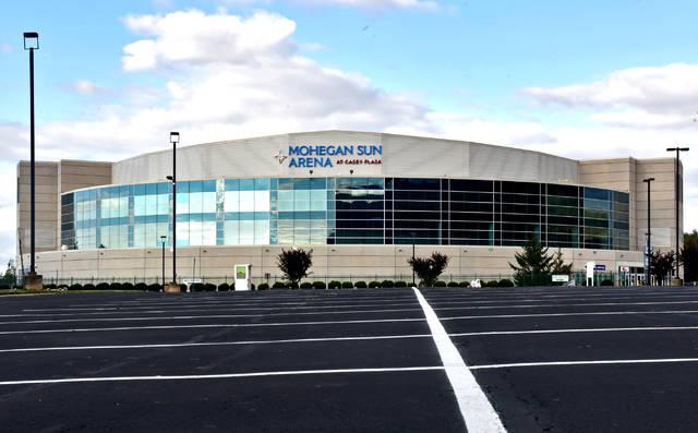 The Mohegan Sun Arena at Casey Plaza. Times Leader file photo
