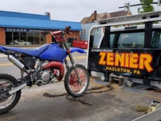 Hazleton police look for erratic motorcyclist