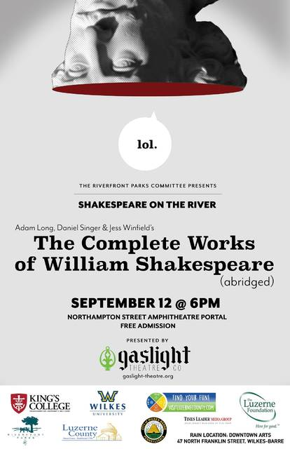Gaslight Theater Co  to present Shakespeare in Wilkes-Barre