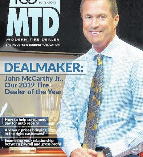 McCarthy named Modern Tire Dealer magazine's 2019 Tire Dealer of the Year
