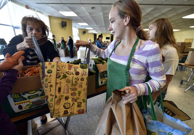 Wyoming Area students help with new community food distribution program