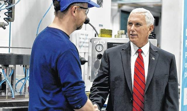 Pence says 'economy is thriving' in Schott speech, urges trade deal passage