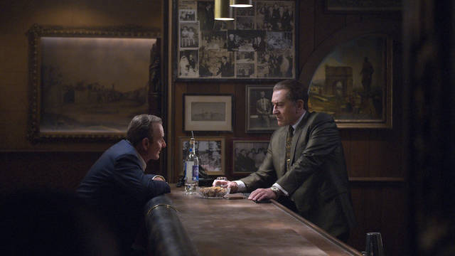 This image released by Netflix shows Joe Pesci, left, and Robert De Niro in a scene from 'The Irishman.' The Cinema & Drafthouse in West Hazleton will screen a five-day run on Nov. 22, and the Dietrich Theater in Tunhannock will have a two-week run Nov. 27-Dec. 12. Niko Tavernise   Netflix via AP