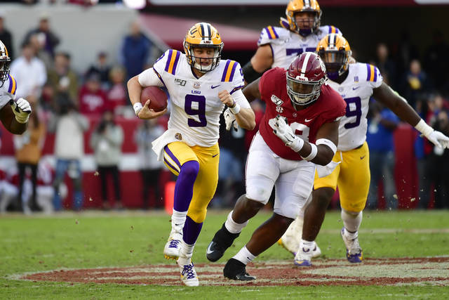 Burrow, LSU hold on for win over Alabama