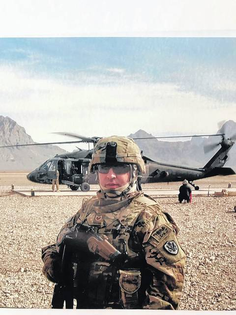 Dominick Aritz Jr. is seen in Afghanistan during his military service. Courtesy Dominick Aritz