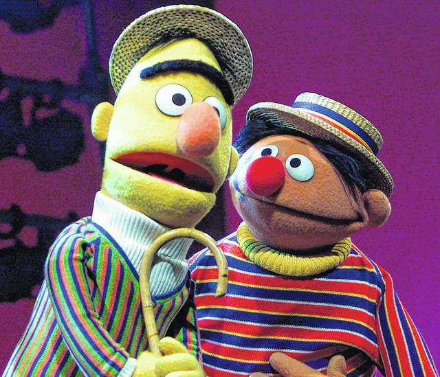 Muppets Bert, left, and Ernie, from 'Sesame Street,' are shown in New York.